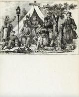 04x069.29 - Soldiers in front of tent from photograph 4, Civil War Illustrations from Winterthur's Magnus Collection